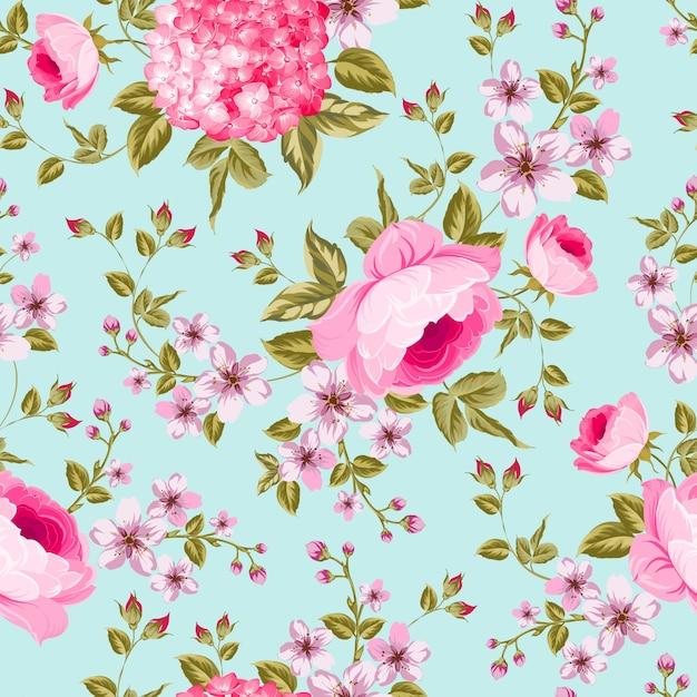 Blumenmuster-design Premium Vektoren