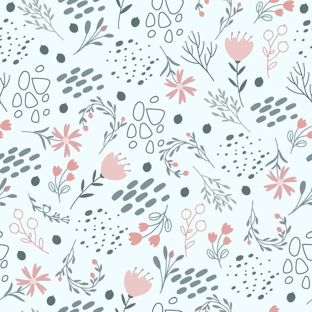 Blumenmuster in sanften pastellfarben Kostenlosen Vektoren
