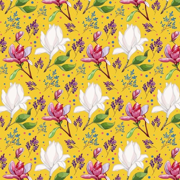Blumenmuster-sammlungskonzept Premium Vektoren