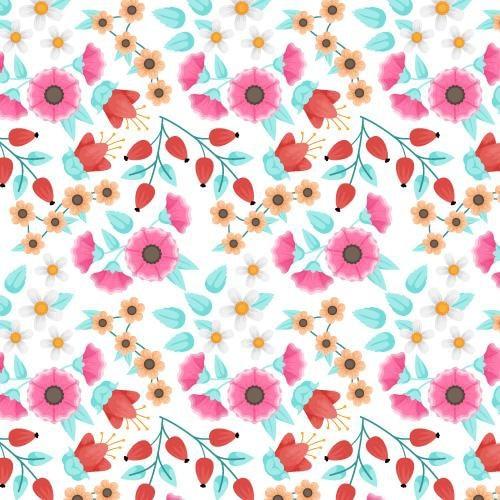Blumenmuster-sammlungskonzept Kostenlosen Vektoren