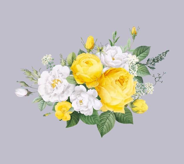 Blumenmusterhintergrund Kostenlosen Vektoren