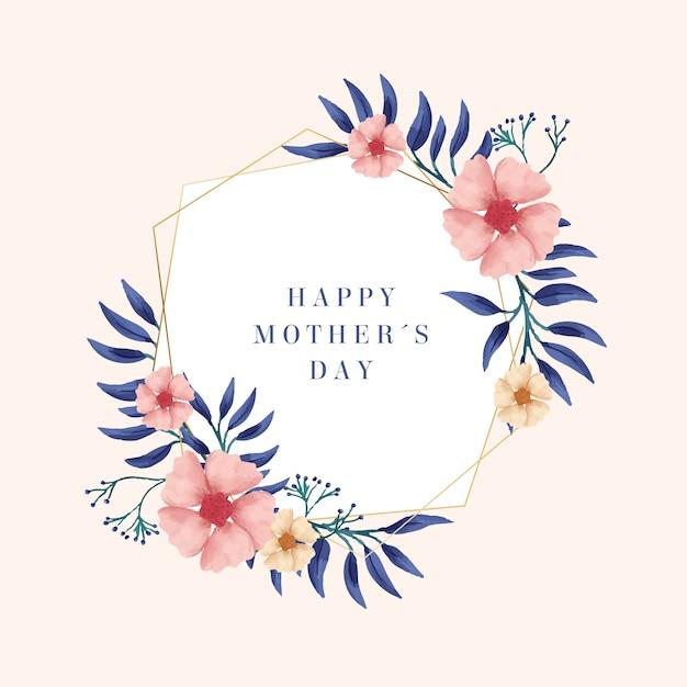Blumenmuttertagskonzept Kostenlosen Vektoren