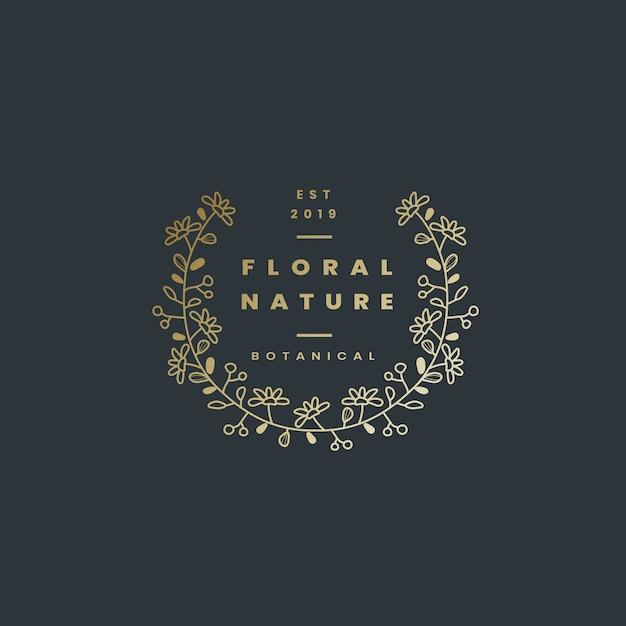 Blumennaturausweis-designvektor Kostenlosen Vektoren