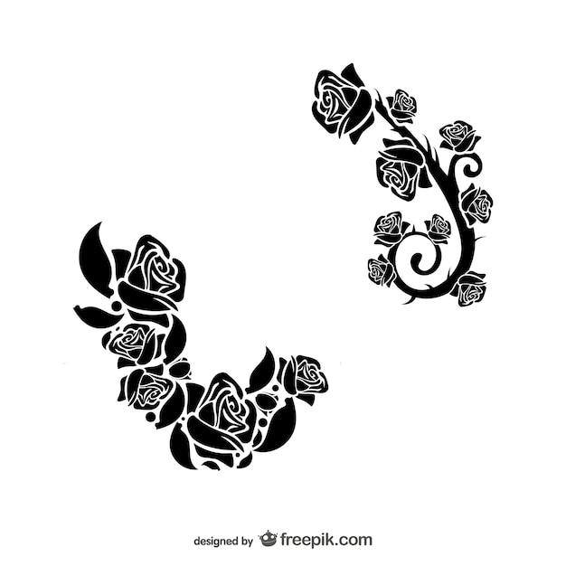 Blumenornamente downloaden Kostenlosen Vektoren
