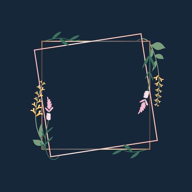 Blumenrahmen abzeichen Kostenlosen Vektoren