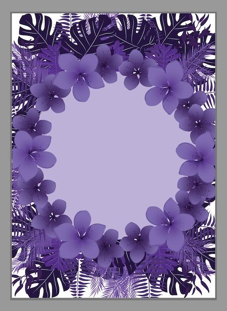 Blumenrahmen, Blumeneinladungs-Schablone. | Download der Premium Vektor