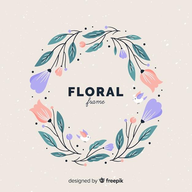 Blumenrahmen Kostenlosen Vektoren