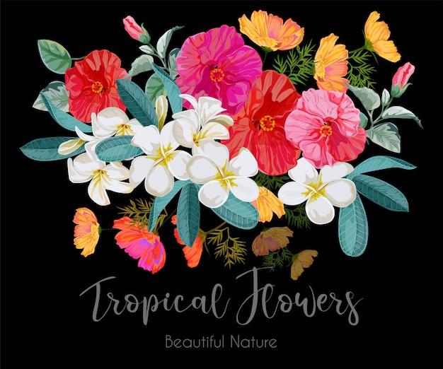 Blumenstrauß abbildung Premium Vektoren