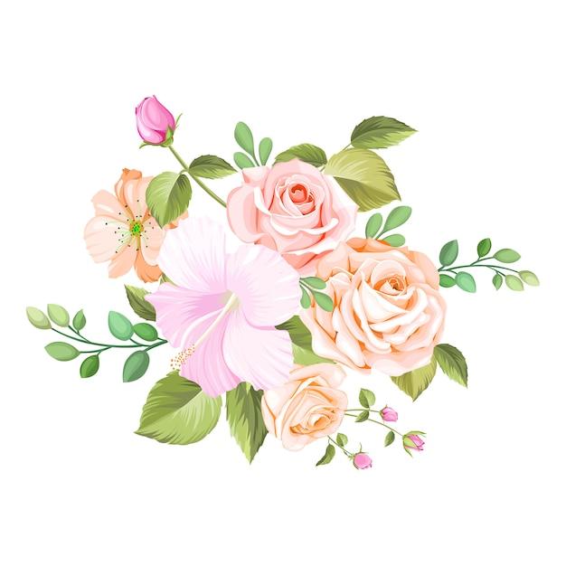 Blumenstrauß hochzeit Premium Vektoren