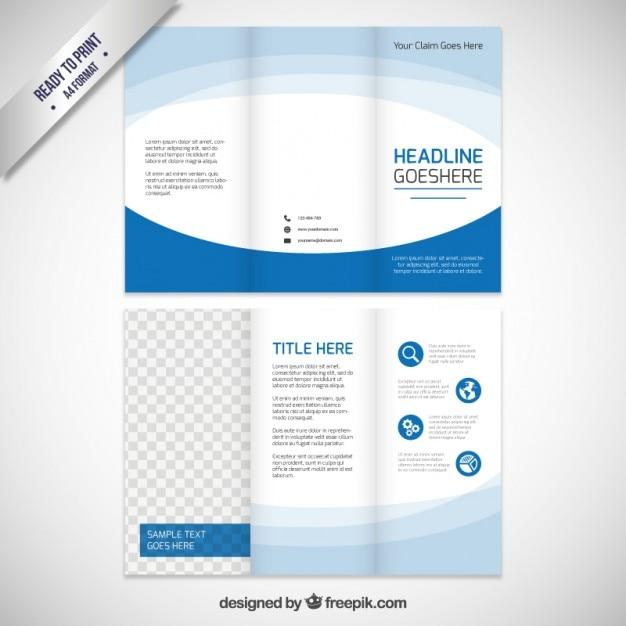 Blur-Broschüre Vorlage | Download der kostenlosen Vektor