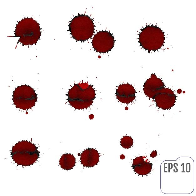 Blut gesetzt Premium Vektoren
