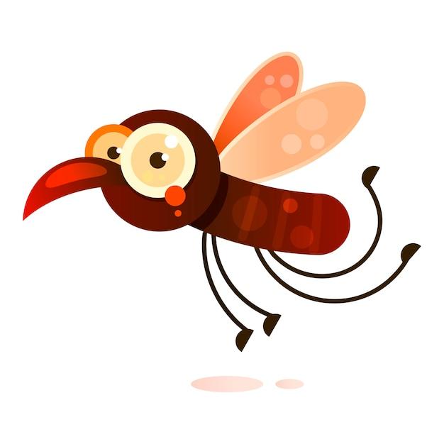 Blut-moskito, der zur opfer-vektor-illustration fliegt Premium Vektoren