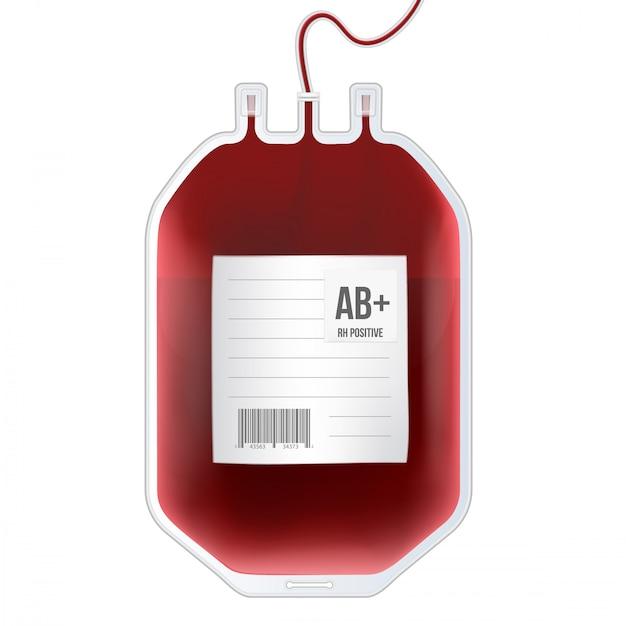 Blutbeutel mit typ Premium Vektoren