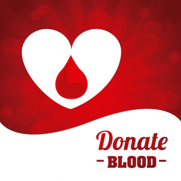 Blutentwurf spenden Premium Vektoren