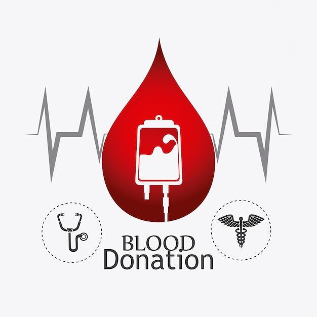 Blutspende design. Premium Vektoren