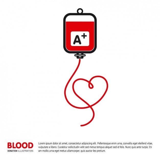 Blutspende illustration vorlage Kostenlosen Vektoren