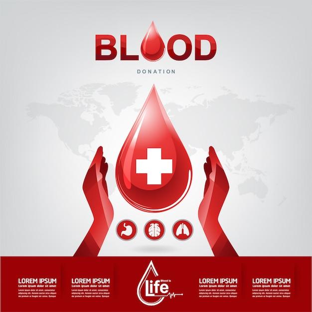 Blutspende-vektor-konzept Premium Vektoren