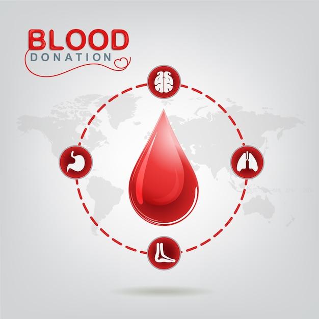 Blutspenden-vektor-konzept - krankenhaus, zum des neuen lebens wieder zu beginnen Premium Vektoren