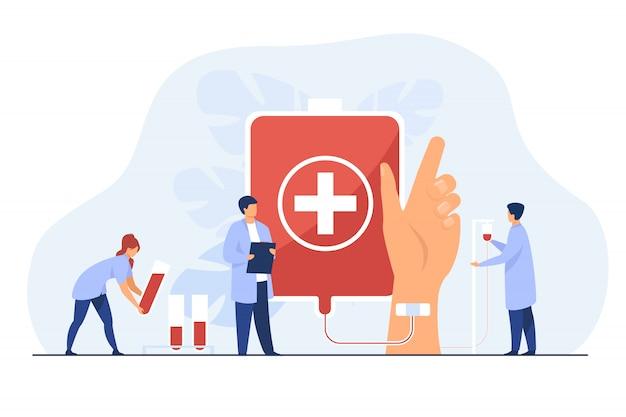 Blutspendestation Kostenlosen Vektoren
