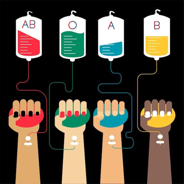 Bluttransfusion konzept vektor-illustration Kostenlosen Vektoren