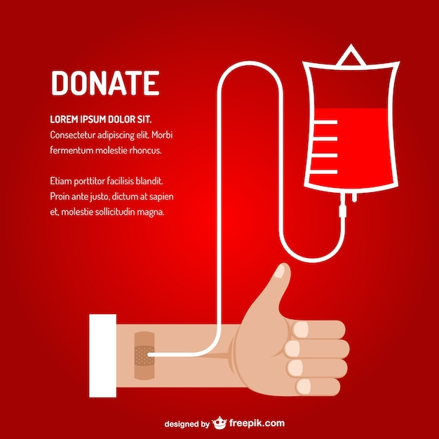 Bluttransfusion vektor-kunst Kostenlosen Vektoren