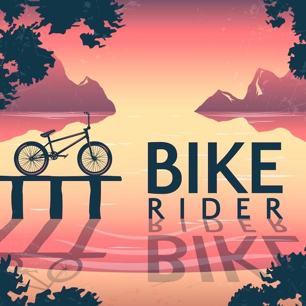 Bmx fahrradfahren illustration Kostenlosen Vektoren