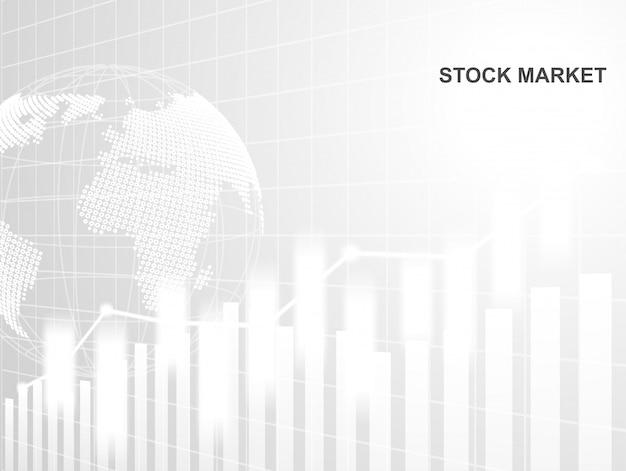 Börse und austausch der welt Premium Vektoren