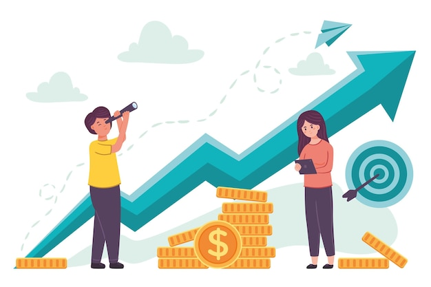Börsenanalyse Kostenlosen Vektoren