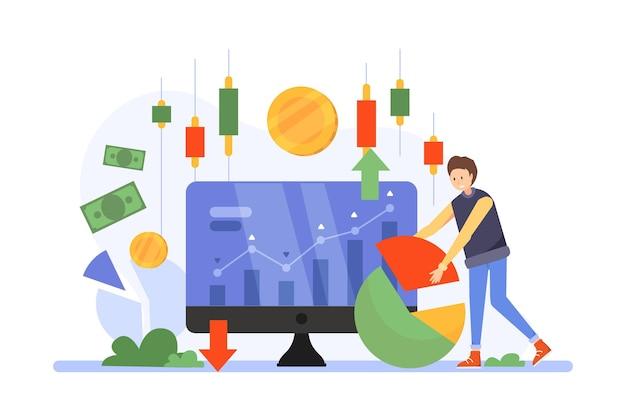 Börsendaten Kostenlosen Vektoren