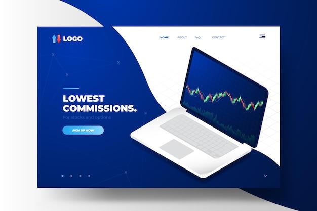 Börsenplattform - landing page Kostenlosen Vektoren