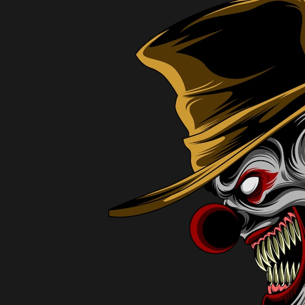 Böses clownplakat Premium Vektoren