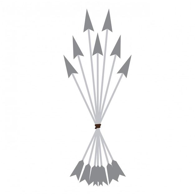 Bogenpfeile symbol Premium Vektoren