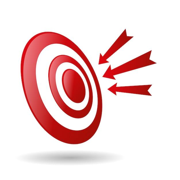 Bogenschießenziel mit pfeilen archer sport game competition icon Premium Vektoren