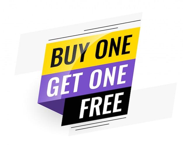 Bogo (kaufen sie eins erhalten eins) freies verkaufsbanner Kostenlosen Vektoren