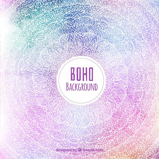 Boho hintergrund mit hippie-elementen Kostenlosen Vektoren