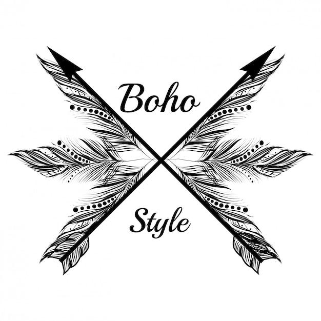 Boho-stil design Premium Vektoren