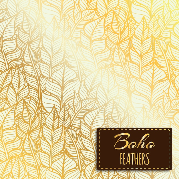 Boho-Stil Muster Design Kostenlose Vektoren