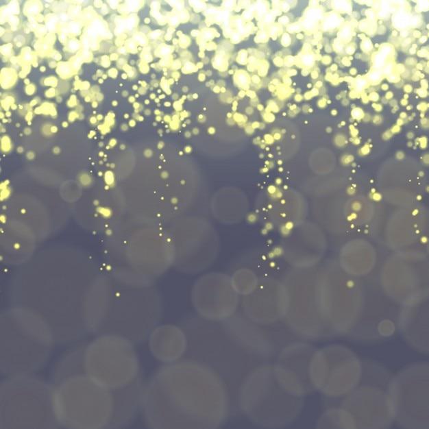 Bokeh Hintergrund mit hellen Lichtern Kostenlose Vektoren