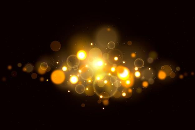 Bokeh lichter bewirken auf dunklem hintergrund Kostenlosen Vektoren