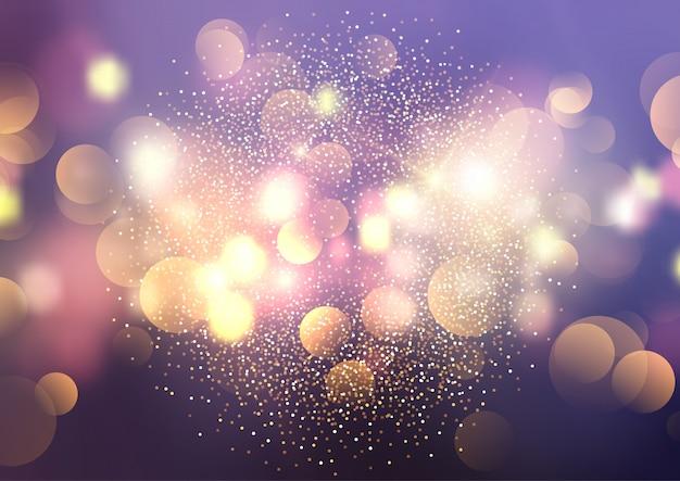 Bokeh Lichter und Glitter Hintergrund Kostenlose Vektoren