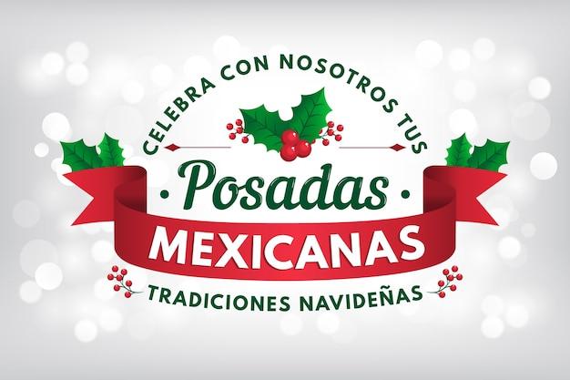Bokeh posadas mexicanas hintergrund Kostenlosen Vektoren