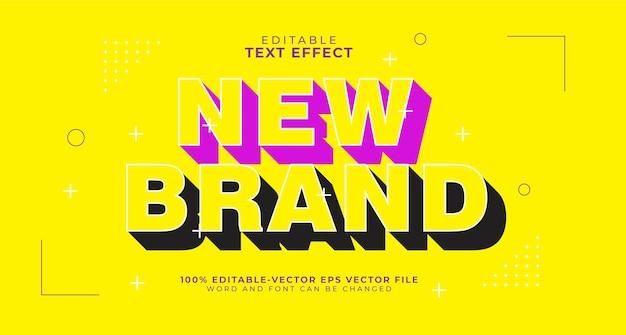 Bold shadow editable text effect Kostenlosen Vektoren