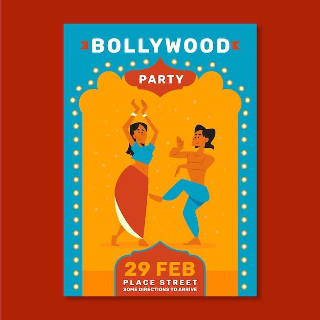 Bollywood party poster design Kostenlosen Vektoren