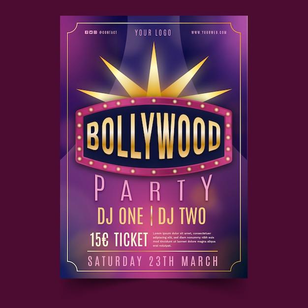 Bollywood party poster vorlage Kostenlosen Vektoren