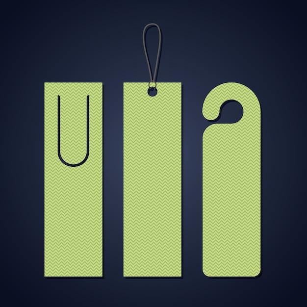 Bookmark-etikett-tag-symbol. reiseführer dekoration lesung und literatur thema. bunter entwurf. vektor Premium Vektoren