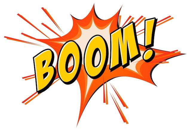 Boom flash auf weiß Kostenlosen Vektoren