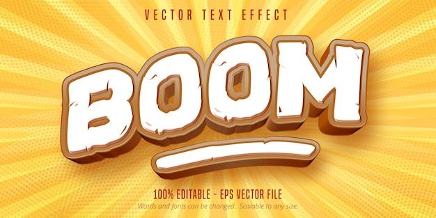 Boom-text, bearbeitbarer texteffekt im spielstil Premium Vektoren