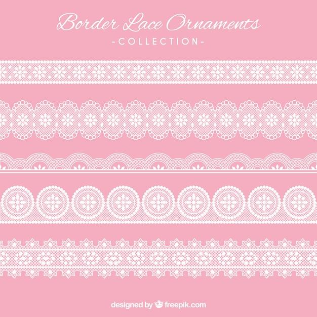 Border spitze ornamenten Kostenlosen Vektoren