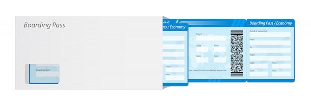 Bordkartenkarte für flugreisen. Premium Vektoren