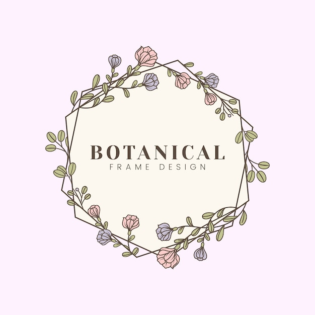 Botanische blumenmodellabbildung Kostenlosen Vektoren